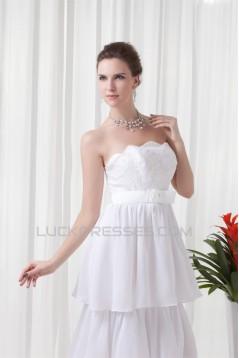 Sheath/Column Sleeveless Chiffon Lace Beautiful Wedding Dresses 2031310