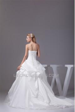 Ball Gown Sleeveless Satin Taffeta Strapless Wedding Dresses 2030133
