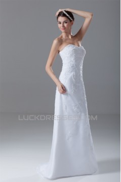 Sleeveless Soft Sweetheart A-Line Satin Organza Wedding Dresses 2031344