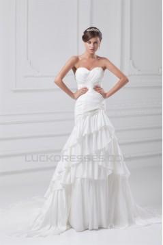 Sleeveless Taffeta Sweetheart Mermaid/Trumpet Embellished Wedding Dresses 2031358