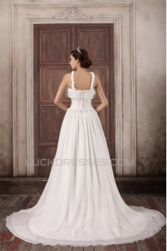 Straps Chiffon Elastic Woven Satin A-Line New Arrival Wedding Dresses 2031374