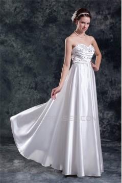 Sweetheart Elastic Woven Satin Sheath/Column Beaded Wedding Dresses 2031383