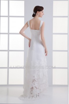 Sweetheart Sheath/Column Chiffon Satin Organza Wedding Dresses 2031389