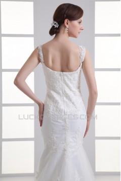 Sweetheart Sleeveless Satin Fine Netting Lace Embellished Wedding Dresses 2031393