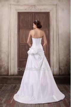 Taffeta A-Line Soft Sweetheart Sleeveless Sweet Wedding Dresses 2031397