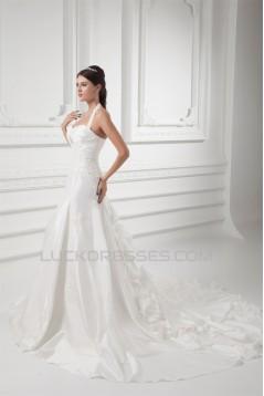 Taffeta Halter A-Line Sleeveless Most Beautiful Wedding Dresses 2031399