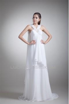 Empire V-Neck Chiffon Sheath/Column Wedding Dresses Maternity Wedding Dresses 2031414