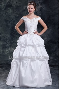 Wholesale Sleeveless Taffeta Off-the-Shoulder Ball Gown Wedding Dresses 2031420