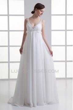 Wonderful V-Neck Sleeveless Chiffon Beaded Empire Wedding Dresses Maternity Wedding Dresses 2031434