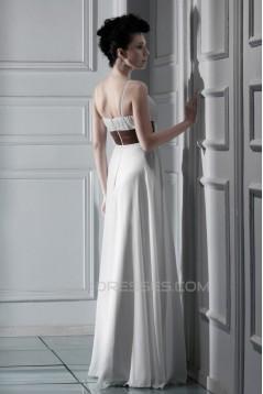 Sheath/Column Spaghetti Strap Floor-Length Wedding Dresses 2031453