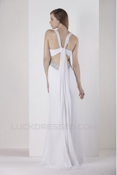 Sheath/Column V-Neck Beaded Wedding Dresses 2031456