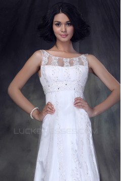 Sheath/Column Sweep Train Beaded Lace Wedding Dresses 2031471
