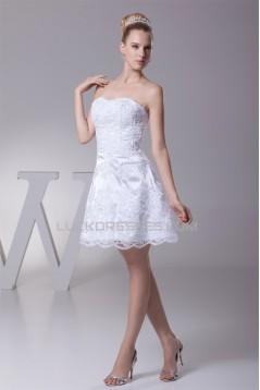 A-Line Short/Mini Strapless Beaded Applique Reception Wedding Dresses 2031472