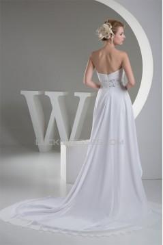 A-Line High Low Sweetheart Chiffon Reception Wedding Dresses 2031473