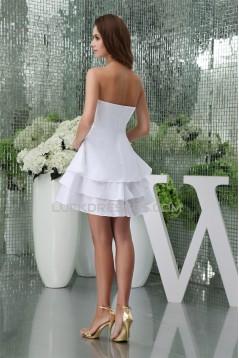 A-Line Short/Mini Strapless Reception Wedding Dresses 2031476