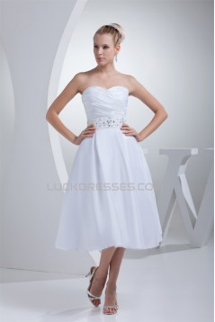 Beautiful Taffeta Sweetheart A-Line Beaded Reception Wedding Dresses 2031483