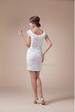 Great Sleeveless Chiffon Scoop Short Wedding Dresses 2031491