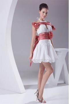 Halter Sheath/Column Sleeveless Taffeta Wedding Dresses 2031492