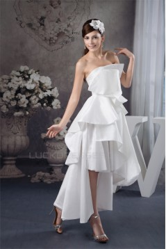 A-Line Strapless Ankle-Length Sleeveless Reception Wedding Dresses 2031521