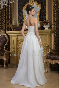 A-Line Sleeveless Sweetheart High Low Wedding Dresses 2031526