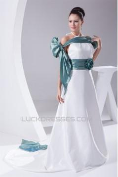 A-Line Sleeveless Halter Taffeta New Arrival Wedding Dresses 2030153