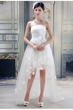 A-Line High Low Strapless Wedding Dresses 2031553