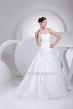 A-Line Strapless Taffeta Sleeveless Wedding Dresses 2030157