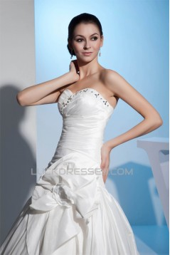 Great Sweetheart Satin Taffeta Netting A-Line Best Wedding Dresses 2030167