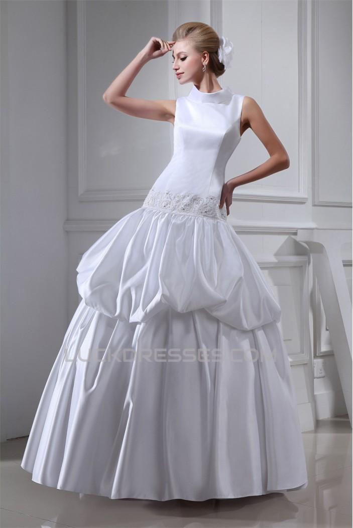 Ball Gown High-Neck Beaded Wedding Dresses 2030172