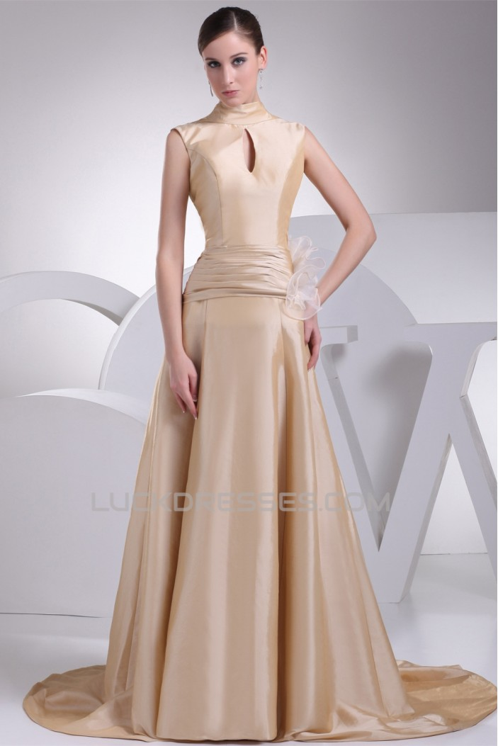 A-Line High-Neck Bows Wedding Dresses 2030173