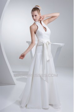 High-Neck Sleeveless A-Line Sweet Wedding Dresses 2030176