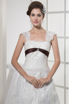 Hot Sale Sleeveless Straps A-Line Bes Beaded Lace Wedding Dresses 2030180