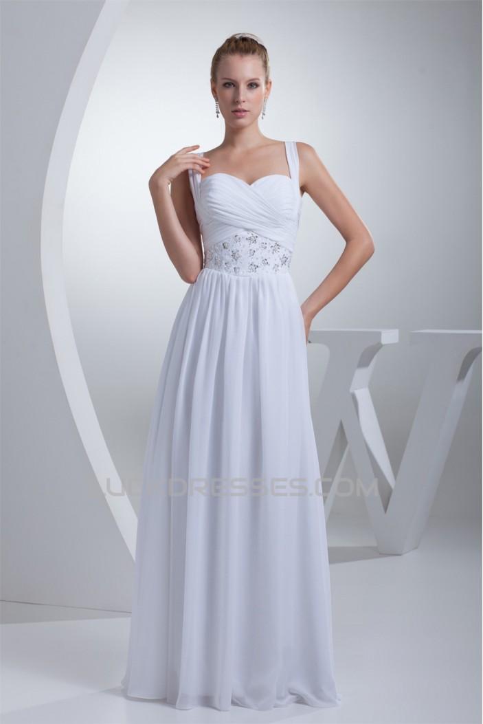 A-Line Sweetheart Illusion Sleeves Chiffon Beaded Wedding Dresses 2030183