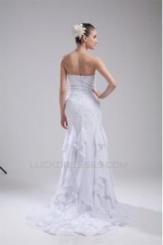 Sheath/Column Chiffon Lace Beaded Sweetheart Sweet Wedding Dresses 2030194