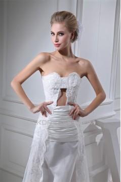 Sheath/Column Lace Organza Soft Sweetheart Wedding Dresses 2030250