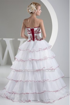 Princess Square Chapel Train Satin Lace Organza Bead Wedding Dresses 2030258
