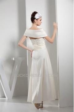 Ruffles Taffeta Short Ankle-Length A-Line Wedding Dresses 2030259