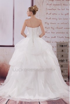 Ball Gown Strapless Beaded Lace Wedding Dresses 2030289