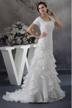 Satin Organza Square Princess Sleeveless Most Beautiful Wedding Dresses 2030297