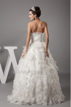 Satin Organza Sweetheart Sleeveless Ball Gown New Arrival Wedding Dresses 2030301