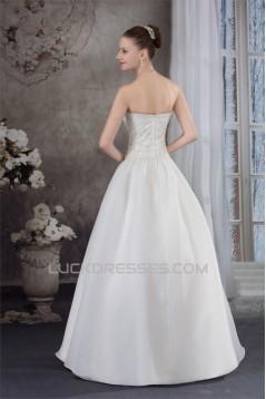 A-Line Sweetheart Sleeveless Embellished Wedding Dresses 2030309