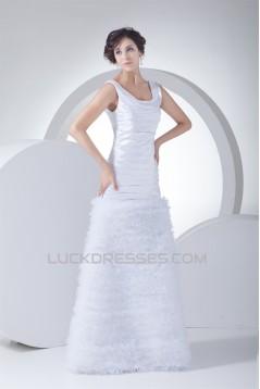 Trumpet/Mermaid Silk like Satin Netting Square Wedding Dresses 2030327