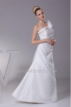 A-Line One-Shoulder Wedding Dresses 2030328