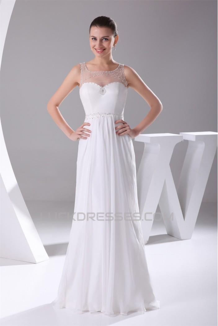 Sheath/Column Straps Sleeveless Beaded Most Beautiful Wedding Dresses 2030335