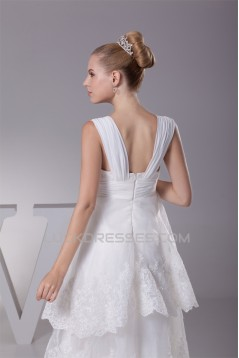 A-Line High Low Sweetheart Lace Sweet Wedding Dresses 2030336