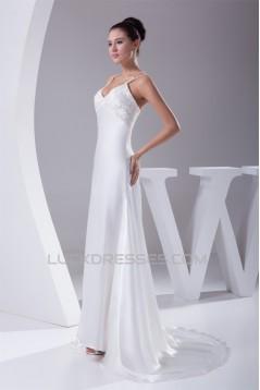 Sheath/Column New Arrival Beaded Wedding Dresses 2030342
