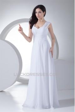 Sheath/Column New Arrival Chiffon Lace Beaded Wedding Dresses 2030344