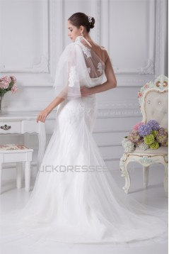 Trumpet/Mermaid One-Shoulder Lace Sweet Wedding Dresses 2030360
