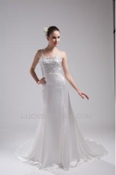 Sleeveless Mermaid/Trumpet One-Shoulder Reception Wedding Dresses 2030373