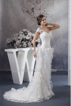 Sleeveless Princess Satin Lace Organza Fine Netting Best Wedding Dresses 2030380